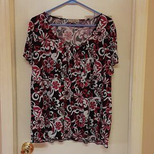 Susan Lawrence Woman Silky Stretchy Blouse